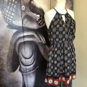 Sienna Sky Bohemian Geometic Halter Wrap Dress